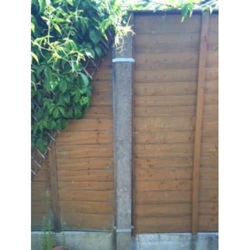 Postfix Fence Panel Security Brackets For Concrete Or
